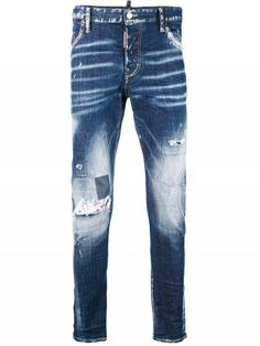DSQUARED2 Sexy twist jeans Slim Jeans, Skinny Jeans, Distressed Jeans, Lineup, Dsquared2, Blue Denim, Thighs, Glamour, Man Shop