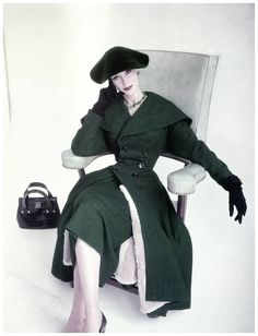 ~Barbara Mullen on the cover of Vogue, photographed by Horst 1952~
