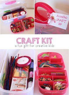Homemade Craft Kit {a fun gift for creative kids!} | Mama.Papa.Bubba.