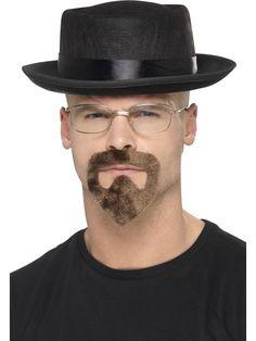 Heisenberg Kit, Black, with Hat, Glasses & Goatee. Breaking Bad Fancy Dress, Breaking Bad Costume, Walter White, Heisenberg, Serie Breaking Bad, Kit, Greys Anatomy Memes, Swag, Fancy Dress Accessories