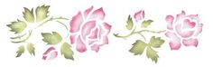 4.5 Inch Rose Border | Designer Stencils