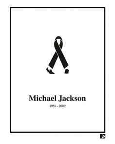 Less is More: Creative and Inspiring Minimalist Print Ads - Black Ribbon R.I.P. Michael Jackson - A wonderful example of a minimalist ad by MTV that represents the legendary singer Michael Jackson's legs through a ribbon.  #advertising