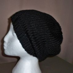Beanie Hat Beret Slouchy Hat Baggy Tam Cap Hand by NalisNotions