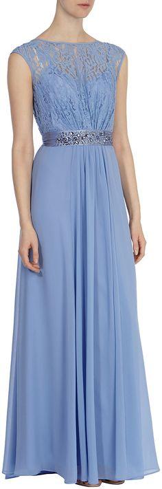 Coast maya maxi dress blue