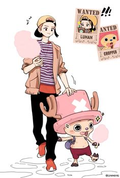 luhan abd chopper Omg bless whoever made this I'm a One piece fan and an exo-l or lufan