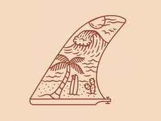 Deserted Beach 🌵 Deserted Beach 🌵 line palmtree fin longboard wave surf surfing illustration Deserte Surf Drawing, Beach Drawing, Hawaiianisches Tattoo, Surf Tattoo, Surf Logo, Surfboard Art, Surfboard Drawing, Surf Art, Vampire Knight