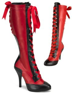 The Violet Vixen - Hellfire Steppers Knee-Boots, $95.00 (http://thevioletvixen.com/shoes/hellfire-steppers-knee-boots/)