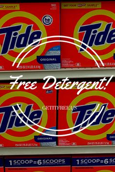 Our Warehouse is FULL! These FREE Tide Laundry Detergent Samples Must Go! Once they're gone, they're gone! Sign up today for freebies so good you will feel guilty not paying for them! No credit card or purchase necessary.