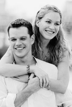 Franka Potente and Matt Damon as Marie and Jason Bourne in ' The Bourne Identity' (2002). Description from pinterest.com. I searched for this on bing.com/images
