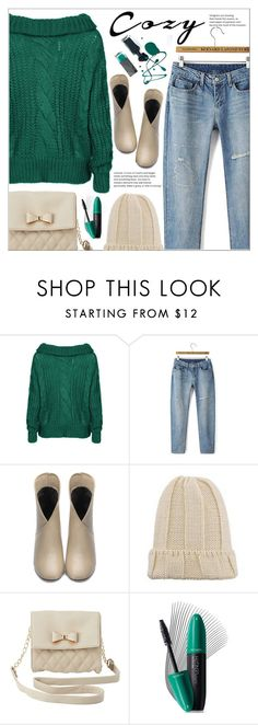"""""""Cozy Chic(yoins7)"""" by meyli-meyli ❤ liked on Polyvore featuring Charlotte Russe, Revlon, cozychic, yoins, yoinscollection and loveyoins"""