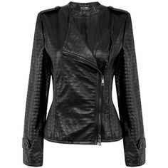 Yoins Leather Moto Jacket featuring polyvore, women's fashion, clothing, outerwear, jackets, black, bomber jackets, buckle leather jacket, leather moto jacket, sport bike jacket and leather flight jacket