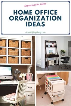 How to set up and organize a home office when you have limited space.
