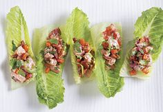 Savory Shrimp Salad Romaine Bites Recipe -This bite of shrimp, cranberry and sweet potato salad on crisp romaine is sure to awaken your taste buds for a holiday feast. <b>Recipe Courtesy of Chef Michelle, ALDI Test Kitchen</b> Best Holiday Appetizers, Appetizers For Party, Appetizer Recipes, Holiday Recipes, Aldi Recipes, Seafood Recipes, Cooking Recipes, Hero Recipe, B Recipe