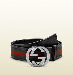 belt with interlocking G buckle