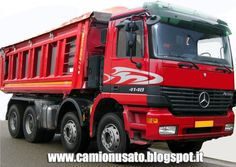 Camion usati e mezzi industriali: Mercedes Benz Actros 4148 8×4 anno 2001 ribaltabil...