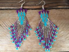Native American Style Beaded Geometric Diamond by EmeraldBeadMaker