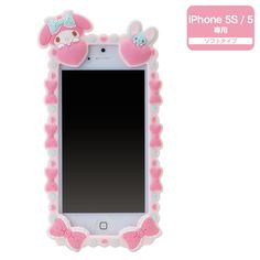 My Melody iPhone 5 5S Silicone Cover Case Deco Decoration SANRIO JAPAN