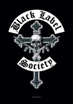Black Label Society Crucifix Fabric Poster