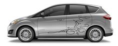 CAR VINYL SIDE GRAPHICS DECAL STICKER Abstract Design Floral Pattern A1441