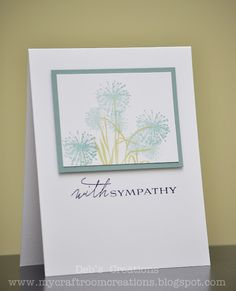 Sympathy card-try with Botanical Silhouettes
