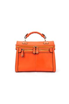 I'm kind of a sucker for orange ... and, sometimes, clean cut shapes. This would be great when you just need a pop of color in the Fall.