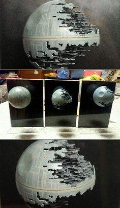 Japanese artist transforms a ping pong ball into the Death Star from Star Wars.