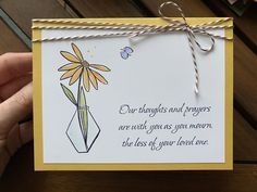 Loss of loved one – January 2020 – Endless Creations Rubber Stamps Loss Of Loved One, Deepest Sympathy, Penny Black, Lily Of The Valley, Sympathy Cards, Pattern Paper, First Love, Prayers, Thoughts
