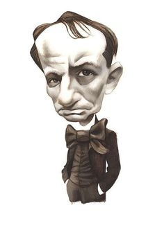 Fernando Vicente's caricature of Baudelaire