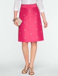 Yes, I would totally wear a #hotpink #beaded skirt. Actually, considering what an incredible price it currently is, it almost made it out of my fantasy wardrobe into my real one. Talbots - Faille Bead & Sparkle Skirt | Skirts |