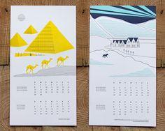 INK+WIT — SALE: 2013 Vortex Letterpress Calendar Ready to Hang