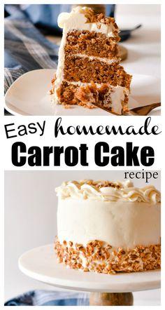 Easy homemade carrot cake recipe so moist and SOOO good! The post MMM! Easy homemade carrot cake recipe so moist and SOOO good! appeared first on Orchid Dessert. Semi Homemade Carrot Cake Recipe, Carrot Recipes, Homemade Cakes, Carrot Cake Recipe With Buttermilk, Carrot Cake Recipe With Coconut, Easy Homemade Desserts, Cake Recipes From Scratch, Easy Cake Recipes, Gastronomia