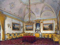 Interiors of the Winter Palace. third spare half. lounge is