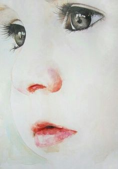 Watercolor Baby Face -- So subtle and realistic, must try.