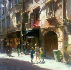 Painting by Simon Pasini Italian Artist.