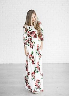 maxi dress, floral, floral maxi dress, easter dress, easter, fashion, style, women's fashion, ootd, blonde, blonde hair