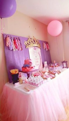 Tiaras Princess Party And Curtains On Pinterest