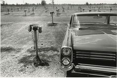 """Lee Friedlander, """"Detroit"""" 1963, of all things, i've never been to the drive-in"""