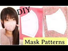 How to Make Original Mask Patterns DIY マスクの型紙の書き方/作り方 - mask making Sewing Patterns Free, Sewing Tutorials, Sewing Hacks, Sewing Projects, Pattern Sewing, Diy Mask, Diy Face Mask, Face Masks, Masque Anti Pollution