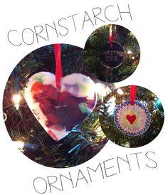 Homemade Cornstarch Ornaments: Great for Painting & Better Than Salt Dough!