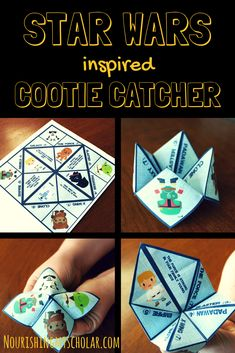Star Wars Inspired Cootie Catcher ~ Nourishing My Scholar - Star Wars Inspired Cootie Catcher: Give your students a fun way to determine if they would be a Jed - Star Wars Party Games, Theme Star Wars, Star Wars Day, Star Trek, Star Wars Droids, Lego Star Wars, Regalos Star Wars, Star Wars Classroom, Anniversaire Star Wars