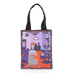 An exclusive designer tote bag from the Anna Sui + Starbucks Collection. Fashion designer Anna Sui lends her glamorously playful signature style to this exclusive tote.