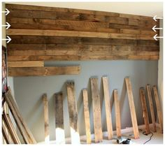 A pallet wall