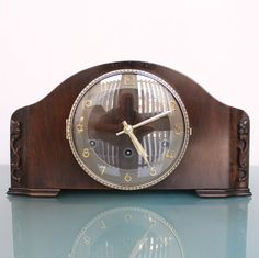 US $309.00 Used in Collectibles, Clocks, Vintage (1930-69) KIENZLE Clock Germany Wood 8 day Winding WESTMINSTER Chime Vintage Shelf/Mantel