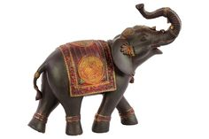 Urban Trends Collection Small Painted Espresso Brown Finish Resin Walking Trumpeting Indian Elephant Figurine with Red Blanket (Resin Figurine Painted Finish Brown, Red) Indian Elephant, Elephant Art, Little Elephant, Elephant Stuff, Elephant Family, Elephant Tattoos, Elephant Gifts, Elephant Jewelry, Elephant Bracelet
