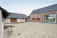 renovation homestead Architecture Renovation, Modern Barn House, Classic Architecture, Brick Patios, Garden Buildings, My Dream Home, Building A House, New Homes, Inspiration