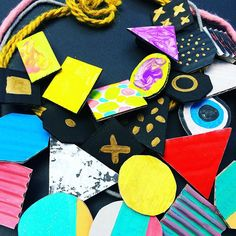 Easy recycled cardboard and pasta jewelry for kids  @handywithscissors