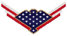 Flag Choker Pattern.   Full color graph with delica colors and amounts. Thumbnail beadscape image.  Project Type: Bead Stitch: peyote or brick