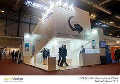 """Stand realizado para la Empresa """"Cottes Group"""" en la Feria Internacional de la Seguridad SICUR 2012 en el Recinto Ferial de Madrid IFEMA en Marzo 2012"""