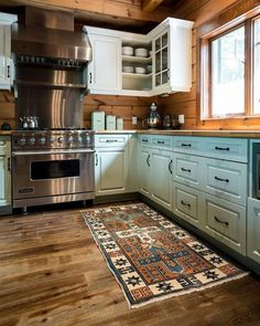 Boho Kitchen, New Kitchen, Kitchen Decor, Kitchen Ideas, Kitchen Updates, Kitchen Black, Kitchen Rustic, Kitchen Paint, Blue Cabinets