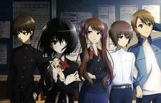 【 Another アナザー 】 Sakakibara Kouichi, Misaki Mei, Akazawa Izumi, Mochizuki Yuuya, Teshigawara Naoya Corpse Party, Manga Art, Manga Anime, Anime Art, Vampires, Another Misaki Mei, Otaku, Fanart, Anime Reviews